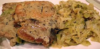 Peppered Pork with Caraway Cabbage