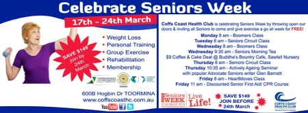 Coffs Coast Health Club Senior's Week