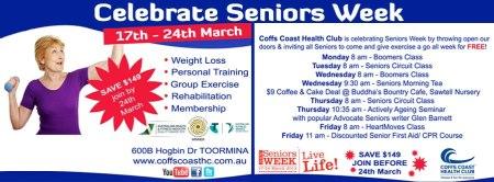 Coffs Coast Health Club Senior's Week