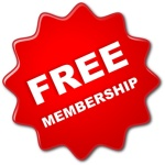 "Red ""FREE MEMBERSHIP"" Stamp"